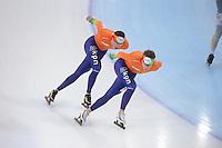 SPEEDSKATING: SOCHI: Adler Arena, 21-03-2013, Training, Sven Kramer (NED), Jan Blokhuijsen (NED), © Martin de Jong