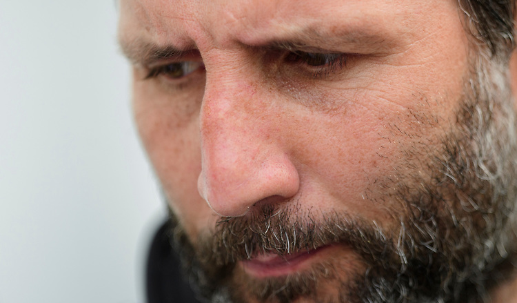 Lincoln City manager Danny Cowley during the pre-match warm-up<br /> <br /> Photographer Chris Vaughan/CameraSport<br /> <br /> The EFL Sky Bet League Two - Lincoln City v Macclesfield Town - Saturday 30th March 2019 - Sincil Bank - Lincoln<br /> <br /> World Copyright © 2019 CameraSport. All rights reserved. 43 Linden Ave. Countesthorpe. Leicester. England. LE8 5PG - Tel: +44 (0) 116 277 4147 - admin@camerasport.com - www.camerasport.com