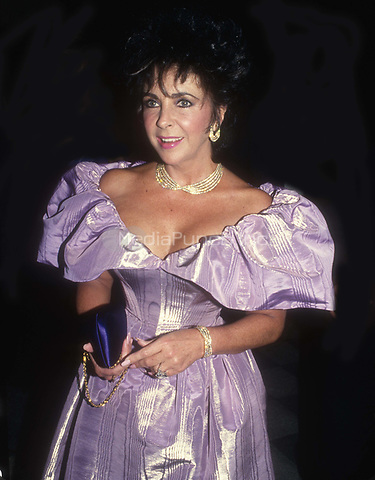 #ElizabethTaylor 1986<br /> Photo By John Barrett/PHOTOlink.net / MediaPunch