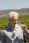 California, San Luis Obispo County: Winemaker Harry Hansen at Edna Valley Vineyards, noted for his Chardonnay. Model released..Photo caluis103-70758..Photo copyright Lee Foster, www.fostertravel.com, 510-549-2202, lee@fostertravel.com