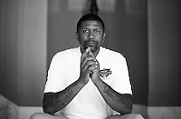 Jalen Rose poses for a portrait at the 5th annual Jalen Rose Leadership Academy golf tournament at the Detroit Golf Club in Detroit, Michigan on Monday August 31, 2015. (Photo by Jared Wickerham/The Players Tribune)
