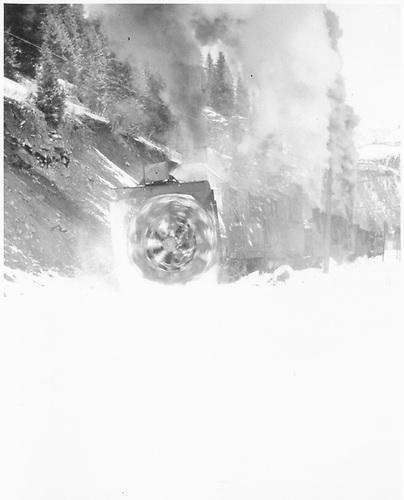 RGS rotary #2 plowing snow in Ophir area.<br /> RGS  Ophir Loop, CO