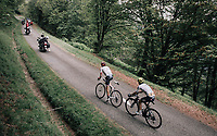 Alberto Contador (ESP/Trek-Segafredo) &  Mikel Landa (ESP/SKY) leading the race up the Mur de Péguère (Cat1/1375m/9.3km/7.9%)<br /> <br /> 104th Tour de France 2017<br /> Stage 13 - Saint-Girons › Foix (100km)