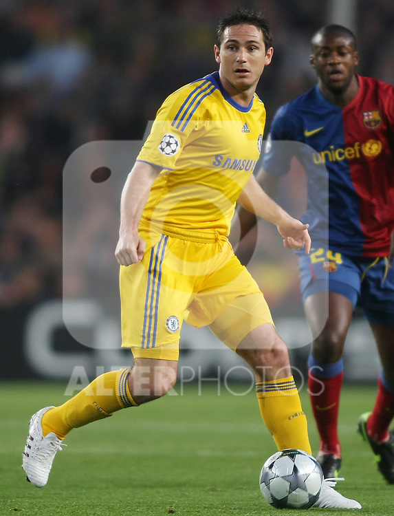 Chelsea's Frank Lampard during the UEFA Champions League match.April 28 2009. (ALTERPHOTOS/Acero).