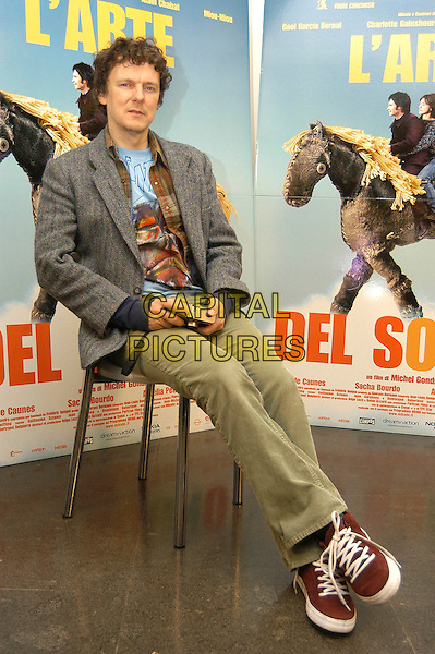 "MICHEL GONDRY .Photocall for film ""L'arte del sogno"" - ""The scince of sleep"" - ""La Science Des Reves"" at Cinema 4 fontane, Rome, Italy,.12th January 2007..full length sitting.CAP/CAV.©Luca Cavallari/Capital Pictures."