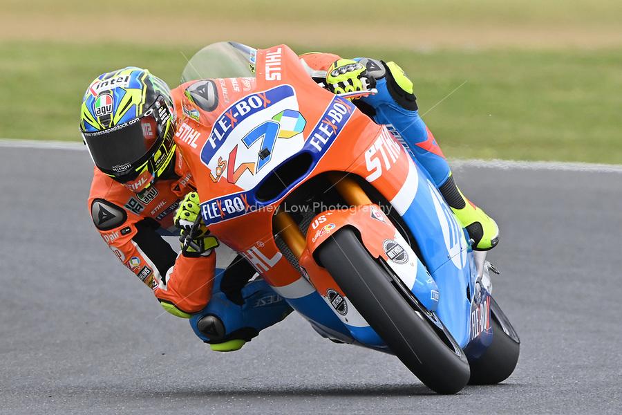 October 27, 2018: Lorenzo Baldassari (ITA) on the No.7 KALEX from Pons Hp40 during the Moto2 practice session three at the 2018 MotoGP of Australia at Phillip Island Grand Prix Circuit, Victoria, Australia. Photo Sydney Low