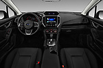 Stock photo of straight dashboard view of 2017 Subaru Impreza CVT 5 Door Hatchback Dashboard