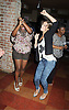 Shenell Edmonds and Kelley Missal dancing  at the Shenell Edmonds Fan Club Dance Party on ..August 14, 2011 at HB Burger's Sunken Bar in New York City. Shenell plays Destiny Evans on One Life to Live.