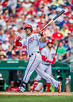29 June 2017: Washington Nationals outfielder Ryan Raburn in action against the Chicago Cubs at Nationals Park in Washington, DC. The Cubs rallied against the Nationals to win 5-4 and split their 4-game series. Mandatory Credit: Ed Wolfstein Photo *** RAW (NEF) Image File Available ***