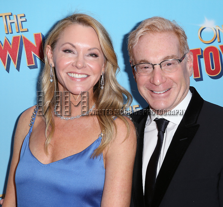 Janet Kagan and Howard Kagan attends the Broadway Opening Night Performance of 'On The Town'  at the Lyric Theatre on October 16, 2014 in New York City.