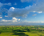 The Palouse, Whitman County, Washington: An overview of the rolling wheat fields of the Palouse. From Steptoe Butte