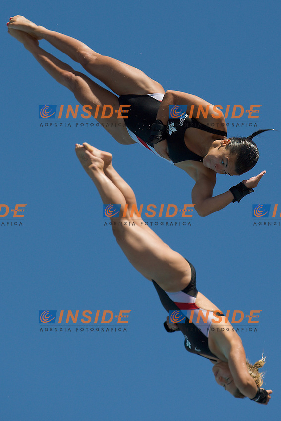 Roma 19th July 2009 - 13th Fina World Championships From 17th to 2nd August 2009..Women's 10m Synchro platform ..Benfeito Meaghan..Filion Roseline..CAN..photo: Roma2009.com/InsideFoto/SeaSee.com