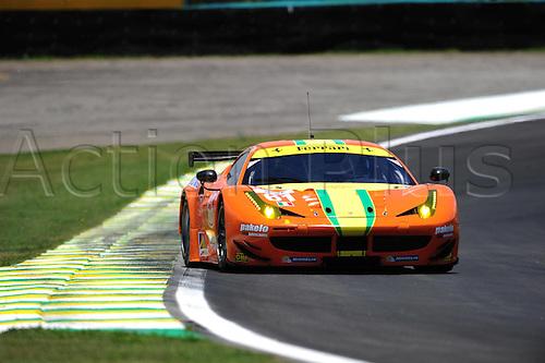 29.11.2014. InterlagCircuit, Sao Paulo, Brazil. 6-Hours WEC race of Sao Paulo.   61 AF CORSE (ITA) FERRARI F458 ITALIA EMERSON FITIPALDI (BRA) ALESSANDRO PIER GUIDI (ITA) JEFFREY SEGAL (USA)
