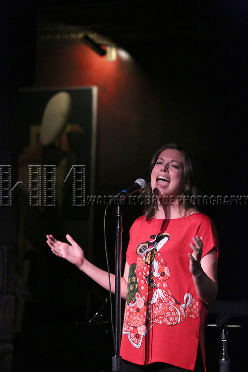 Margo Siebert performing at The Lilly Awards Broadway Cabaret at the Cutting Room on October 17, 2016 in New York City.