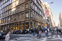 The new Nike store prior to its grand opening in Soho in New York on Friday, November 11, 2016. Nike is the largest global athletic shoe and clothing maker. (© Richard B. Levine)