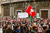 "Huge ""March for Life"" demonstration against current Spanish abortion laws, March 7th, Madrid, Spain. Estimates indicate active participation by over 600,000 protestors."