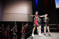 Taylor Phinney (USA/BMC) being his goofy self stepping onto the podium<br /> <br /> Elite Men&rsquo;s Team Time Trial<br /> UCI Road World Championships Richmond 2015 / USA
