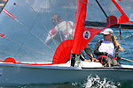 29er class at the Sydney International Regatta 2008..Held annually the Sydney International Regatta (SIRs)  has been categorized by ISAF as a Grade 1 event of the Laser, Laser Radial, Finn, 470, 49er and RS:X. A Grade 2 event for the Ynglings, however this year will include the Yngling Australian Championships..Other classes invited include the Moth, 420, 29er Laser 4.7 and the A Class Catamaran. This year the A Class Catamaran is holding their World Championships at Belmont, NSW and the SIRs will be a Pre Worlds regatta for the Class.  Entries are restricted to 25 and A Class competitors are invited to enter through their association.