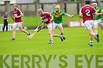In Action Causeway's Fergus Carroll and Kilmoyley's  Tommy MaunsellSenior Hurling Championship round 1 Causeway V Kilmoyley at Austin Stack Park on Saturday