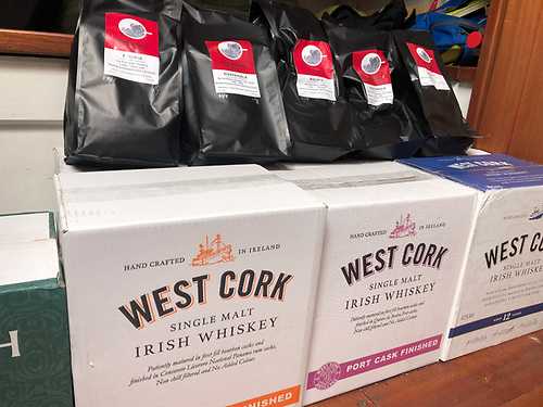 West Cork products – all the better for arriving by sea, they were delivered this morning in Kilrush