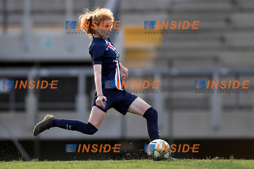 Celina Ould Hocine scores the decisive penalty <br /> Roma 8/9/2019 Stadio Tre Fontane <br /> Luisa Petrucci Trophy 2019<br /> AS Roma - Paris Saint Germain<br /> Photo Andrea Staccioli / Insidefoto
