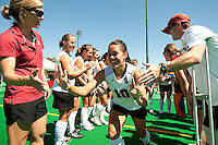 STANFORD, CA - SEPTEMBER 6: Stephanie Byrne plays against Michigan State on September 6, 2010 in Stanford, California.