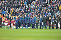Minuets silence during West Ham United vs Burnley, Premier League Football at The London Stadium on 3rd November 2018