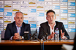 30.05.2018 Ray McKinnon new Morton manager with chairman Crawford Rae
