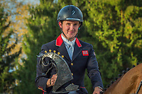 GBR-Tom McEwen and Toledo de Kerser take the title during the Pizegiving for the CCI5*-L. Les 5 Etoiles de Pau. Pyrenees Atlantiques. France. Sunday 27 October. Copyright Photo: Trevor Holt - Kingfisher Media Services