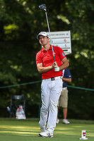 Bethesda, MD - July 1, 2017: Nick Taylor after his tee shot during Round 3 of professional play at the Quicken Loans National Tournament at TPC Potomac in Bethesda, MD, July 1, 2017.  (Photo by Elliott Brown/Media Images International)