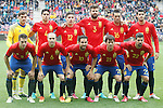 Spain's team photo with Iker Casillas, Marc Bartra, Hector Bellerin, Gerard Pique, Bruno Soriano, Alvaro Morata, Cesar Azpilicueta, Andres Iniesta, Cesc Fabregas, David Jimenez Silva and Nolito during friendly match. June 1,2016.(ALTERPHOTOS/Acero)