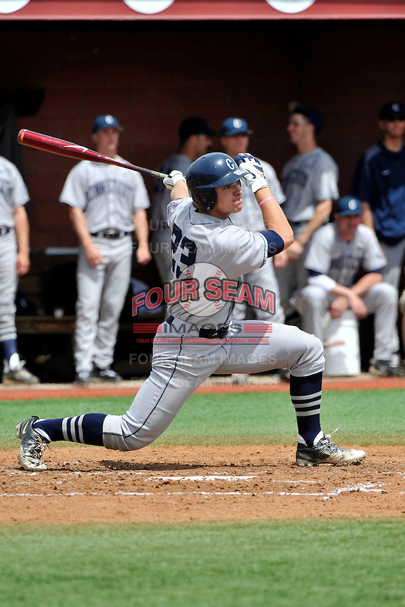 Connecticut Huskies outfielder John Andreoli (23) during game against Rutgers Scarlet Knights at Bainton Field in Piscataway, New Jersey;  May 01, 2011.  Connecticut defeated Rutgers 6-2.  Photo By Tomasso DeRosa/Four Seam Images