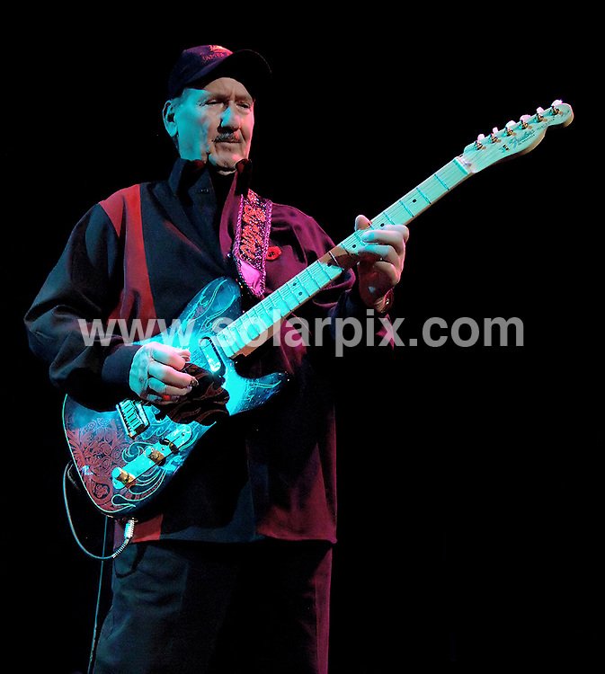 **ALL ROUND PICTURES FROM SOLARPIX.COM**.**WORLDWIDE SYNDICATION RIGHTS**.Legendary guitar man James Burton, who used to play with Elvis Presley, performing in concert at Pacific Art Centre, Birkenhead, UK. 7th November 2008..JOB REF: 7835 SGD     DATE: 07_11_2008.**MUST CREDIT SOLARPIX.COM OR DOUBLE FEE WILL BE CHARGED* *UNDER NO CIRCUMSTANCES IS THIS IMAGE TO BE REPRODUCED FOR ANY ONLINE EDITION WITHOUT PRIOR PERMISSION*