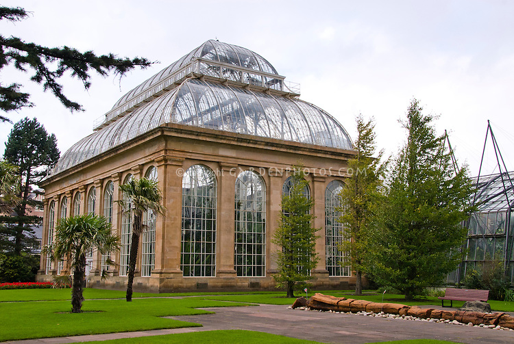 Glasshouses greenhouse conservatory, Royal Botanic Garden Edinburgh  Scotland UK