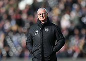 9th February 2019, Craven Cottage, London, England; EPL Premier League football, Fulham versus Manchester United; Fulham Manager Claudio Ranieri