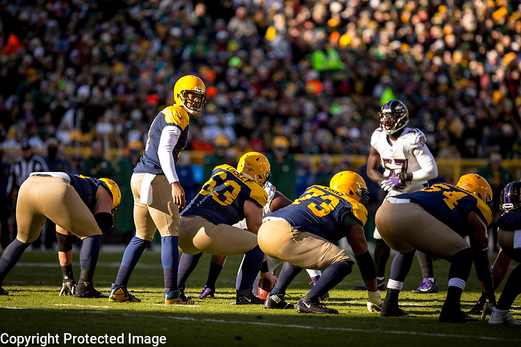 Green Bay Packers vs. Baltimore Ravens at Lambeau Field in Green Bay, Wis., on November 19, 2017. The Packers lost 23-0.
