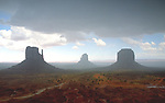 Mittens, Monument Valley in sudden rainstorm
