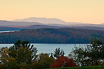 Sunset on Moosehead Lake, Piscataquis County, ME, USA