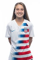 Sarasota, FL - Saturday, October 09, 2018:  Headshot of U-17 USWNT player Allyson Sentnor.