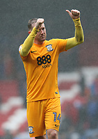 Preston North End's Aidan McGeady applauds the fans after the final whistle<br /> <br /> Photographer Stephen White/CameraSport<br /> <br /> The EFL Sky Bet Championship - Blackburn Rovers v Preston North End - Saturday 18th March 2017 - Ewood Park - Blackburn<br /> <br /> World Copyright &copy; 2017 CameraSport. All rights reserved. 43 Linden Ave. Countesthorpe. Leicester. England. LE8 5PG - Tel: +44 (0) 116 277 4147 - admin@camerasport.com - www.camerasport.com