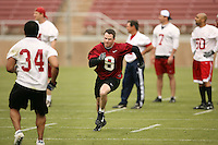 21 April 2007: Shannon Turley during the alumni's 38-33 victory over the coaching staff during a flag football exhibition at Stanford Stadium in Stanford, CA.