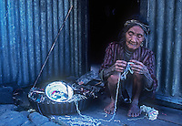 Traditional old Ifugao Women with full Body Tattoos, Mountain Province, Banaue, Philippines,