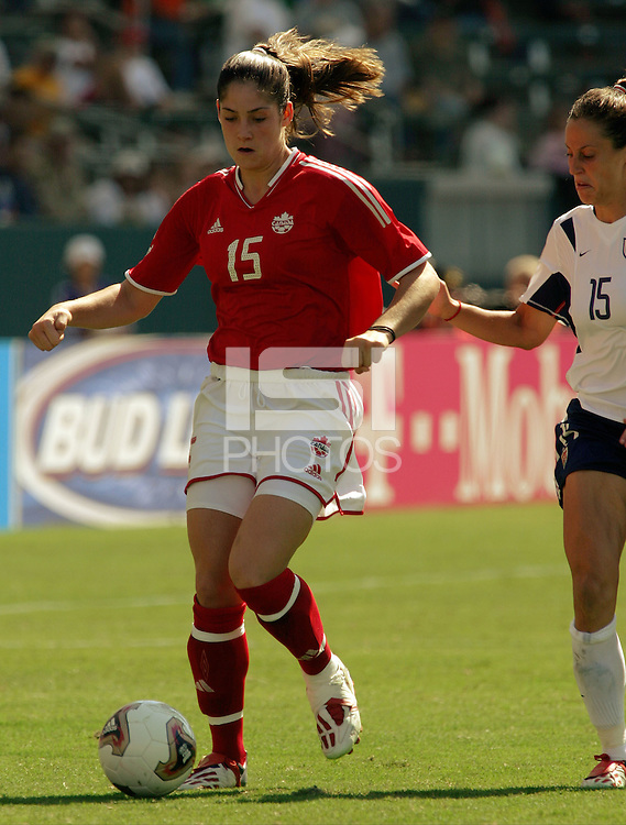 Kara Lang, USA vs. Canada at the Third Place Match of the FIFA Women's World Cup USA 2003. USA 3, Canada, 1. (October 11, 2003). .