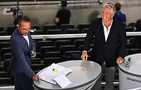 Matthias Opdenhoevel und Bastian Schweinsteiger<br /> <br /> Fussball, Herren, Saison 2019/2020, 77. Finale um den DFB-Pokal in Berlin, Bayer 04 Leverkusen - FC Bayern München, 04.07. 2020, Foto: Matthias Koch/POOL/Marc Schueler/Sportpics.de