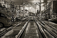 On the Tracks. Kobe, Hyogo Prefecture, Japan. 2015