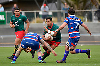LEVIN, NEW ZEALAND - OCTOBER 28: Michael Lealeva&rsquo;a of Wairarapa in action  during the Lochore Cup Final match between Horowhenua Kapiti and Wairarapa Bush at Levin Domain on October 28, 2018 in Levin, New Zealand. <br /> Photo by Masanori Udagawa. <br /> www.photowellington.photoshelter.com