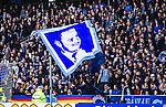 Stockholm 2014-04-06 Fotboll Allsvenskan Djurg&aring;rdens IF - Halmstads BK :  <br /> Djurg&aring;rdens supportrar med en flagga<br /> (Foto: Kenta J&ouml;nsson) Nyckelord:  Djurg&aring;rden DIF Tele2 Arena Halmstad HBK supporter fans publik supporters