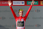 Simon Yates (GBR) Mitchelton-Scott retains the race leaders Red Jersey at the end of  Stage 16 of the La Vuelta 2018, an individual time trial running 32km from Santillana del Mar to Torrelavega, Spain. 11th September 2018.                    Picture: Unipublic/Photogomezsport | Cyclefile<br /> <br /> <br /> All photos usage must carry mandatory copyright credit (&copy; Cyclefile | Unipublic/Photogomezsport)