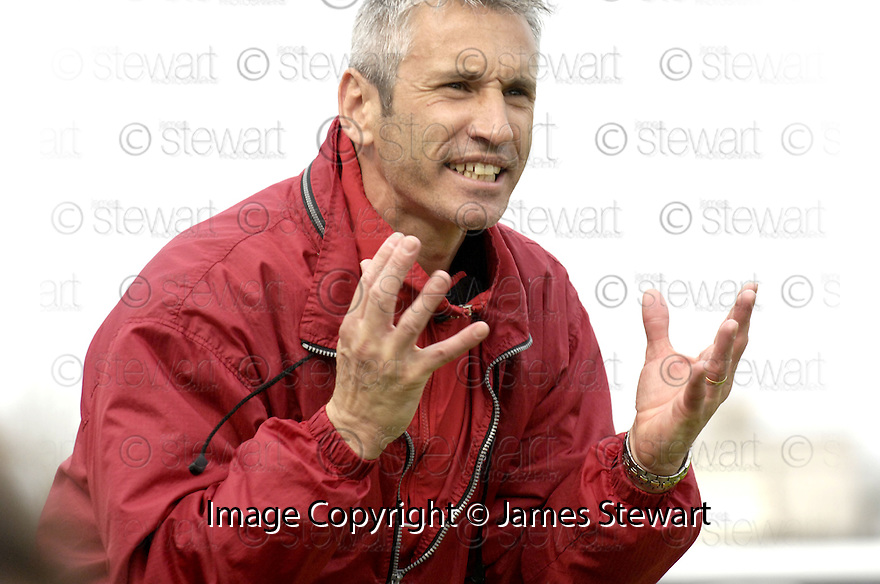 21/04/2007       Copyright Pic: James Stewart.File Name : sct_jspa27_gretna_v_clyde.DAVID IRONS SHOUTS HIS INSTRUCTIONS.....James Stewart Photo Agency 19 Carronlea Drive, Falkirk. FK2 8DN      Vat Reg No. 607 6932 25.Office     : +44 (0)1324 570906     .Mobile   : +44 (0)7721 416997.Fax         : +44 (0)1324 570906.E-mail  :  jim@jspa.co.uk.If you require further information then contact Jim Stewart on any of the numbers above.........