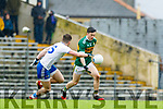Paul Murphy  Kerry in action against Dessie Ward. Monaghan during the Allianz Football League Division 1 Round 5 match between Kerry and Monaghan at Fitzgerald Stadium in Killarney, on Sunday.